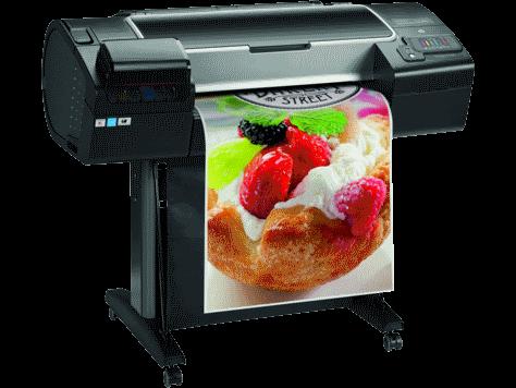 HP designjet Z2600 reclame posterprinter